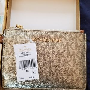 Michael Kors coin leather coin wallet new!